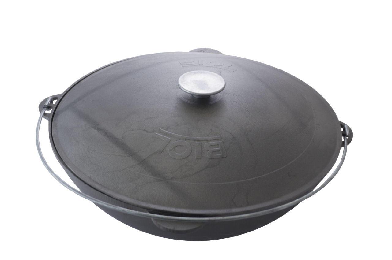 Казан чугунный Biol - 450 мм x 15 л татарский с крышкой