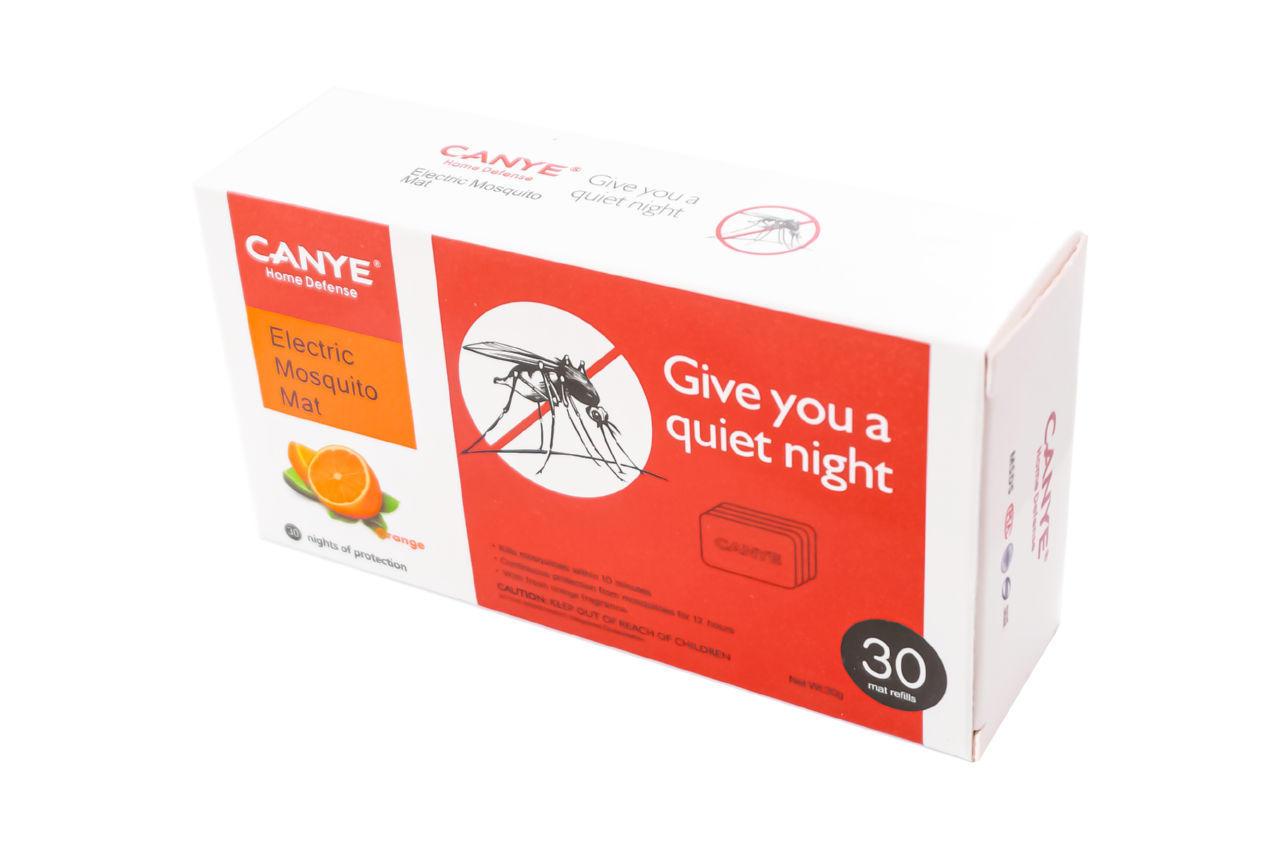 Пластины от комаров для фумигатора Canye - 30 шт. апельсин EL-B0670