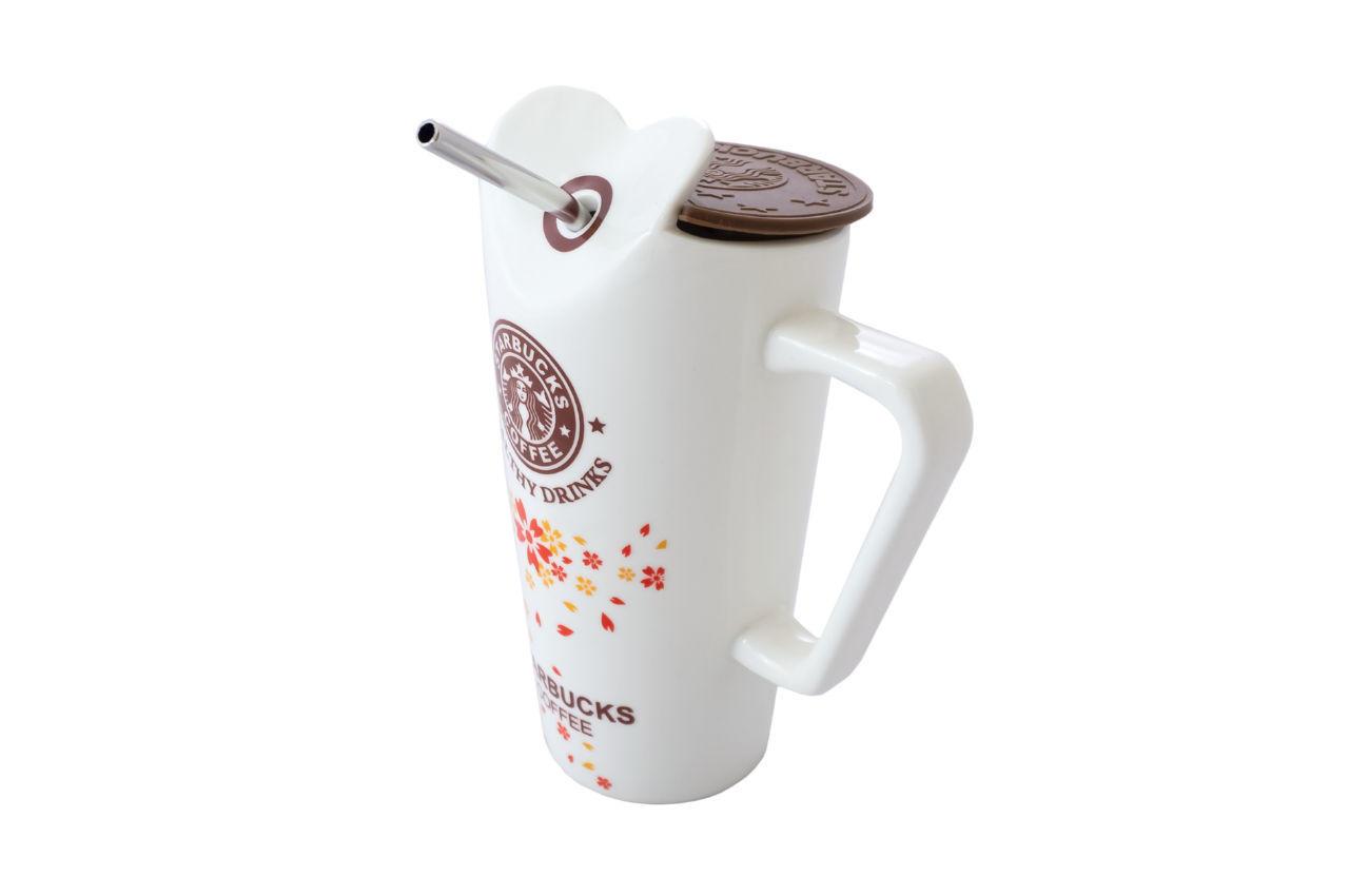 Чашка термос керамическая Elite - 350мл