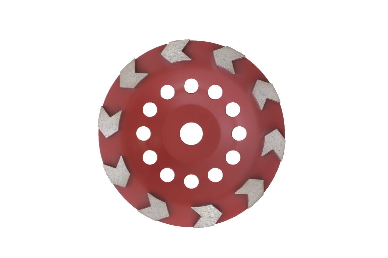 Чашка алмазная Aceca - 180 x 22,2 мм L красная