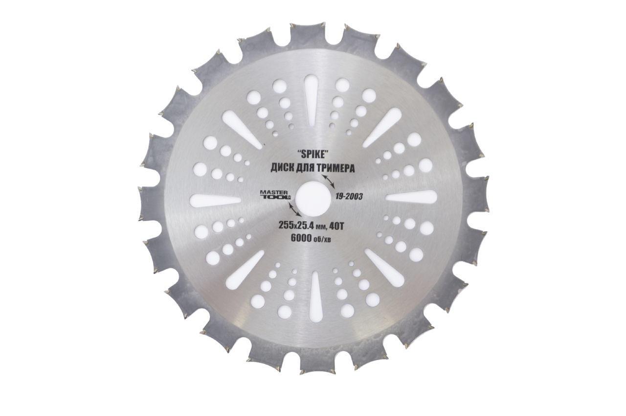 Диск для триммера Mastertool - 255 мм x 40 Т Spike