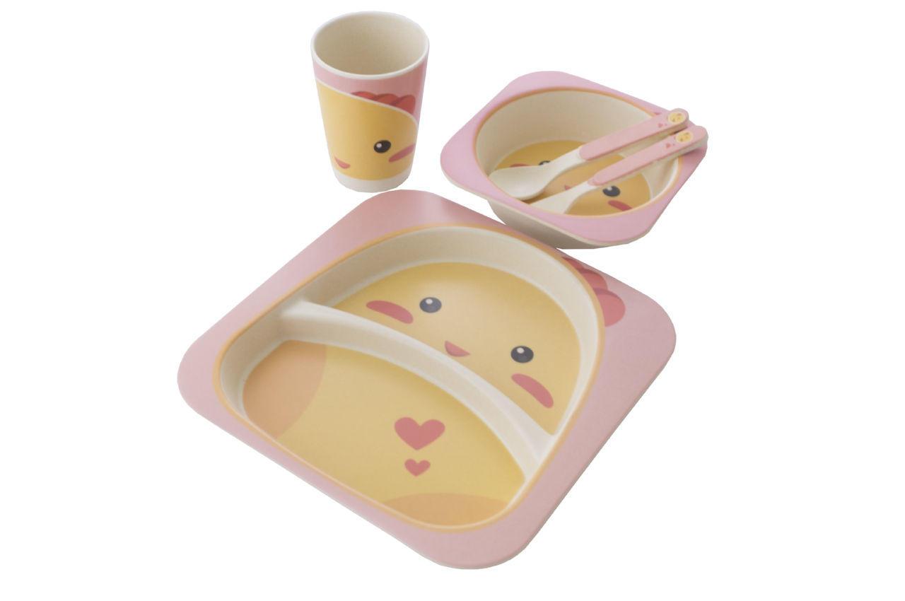 Набор посуды бамбуковый Elite - Mix 5 ед.