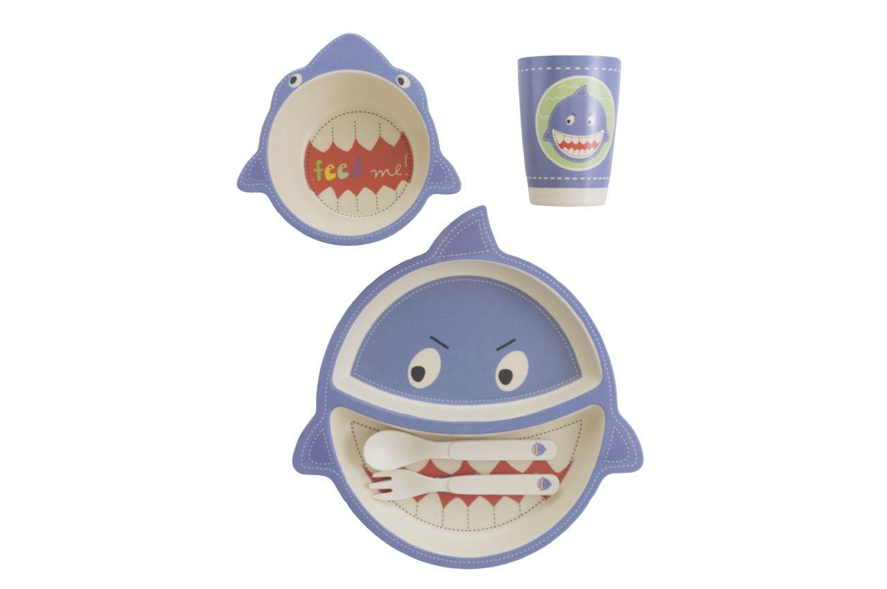 Набор посуды бамбуковый Elite - акула 5 ед.