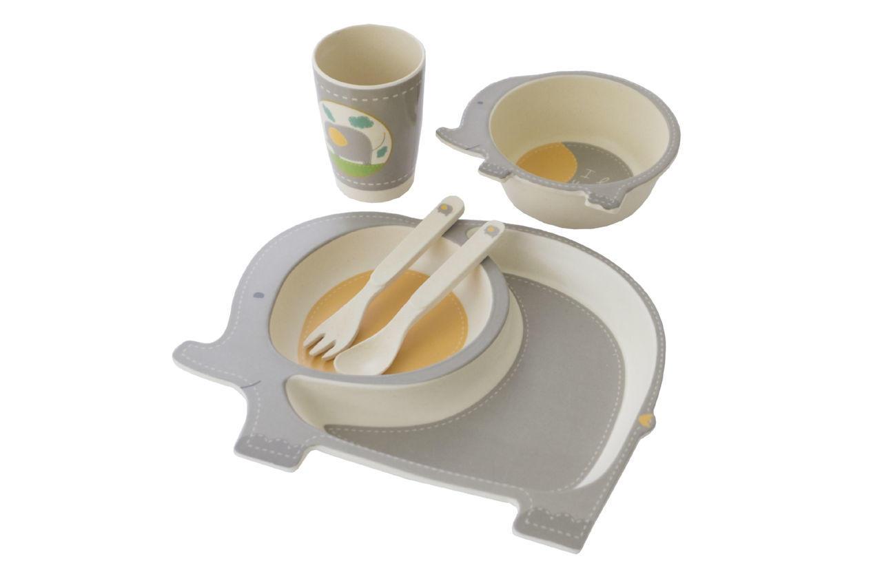 Набор посуды бамбуковый Elite - слон 5 ед.