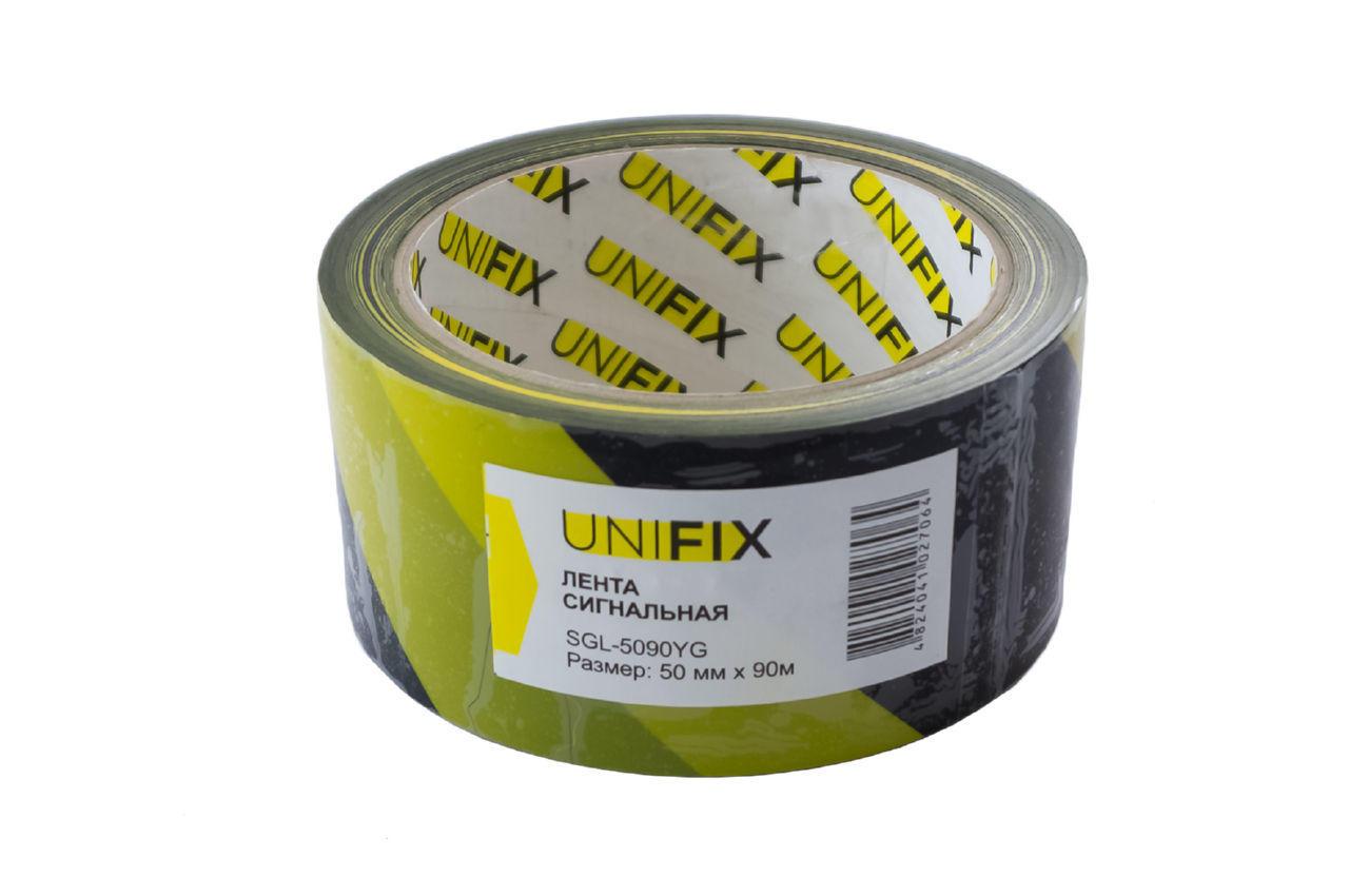 Лента сигнальная Unifix - 50 мм x 90 м желто-черная