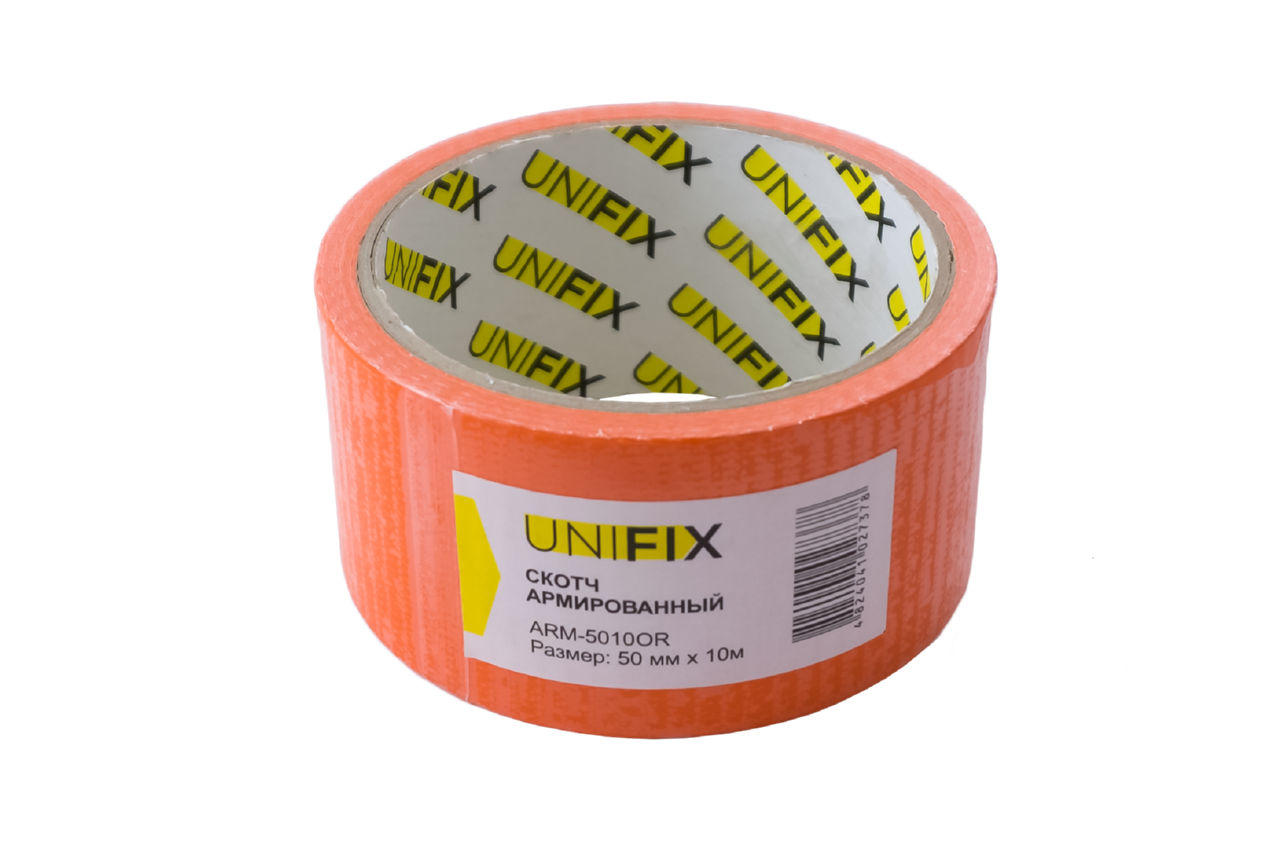 Лента армированная Unifix - 50 мм x 10 м оранжевая