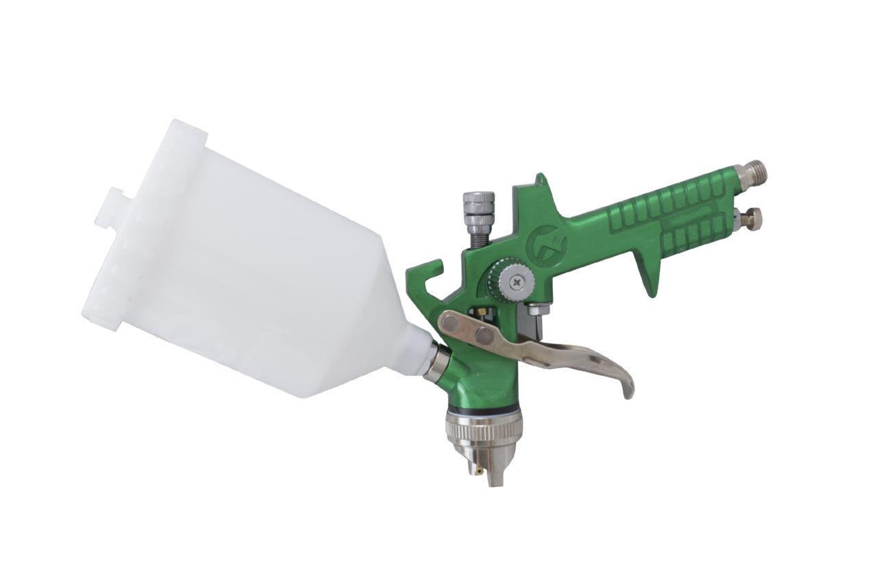 Краскопульт пневматический HVLP Intertool - 600 мл x 1,3 мм верхний бак