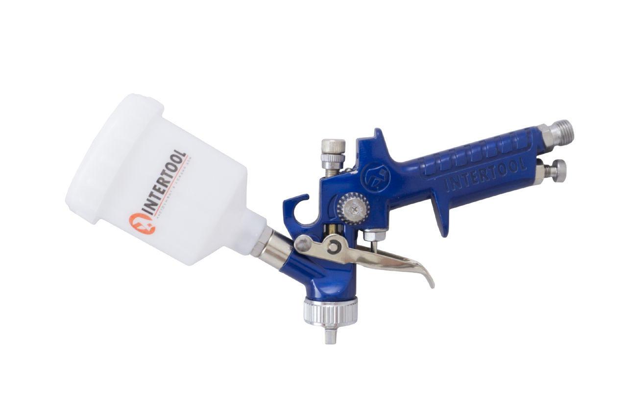 Краскопульт пневматический HVLP Intertool - 125 мл x 1,2 мм верхний бак