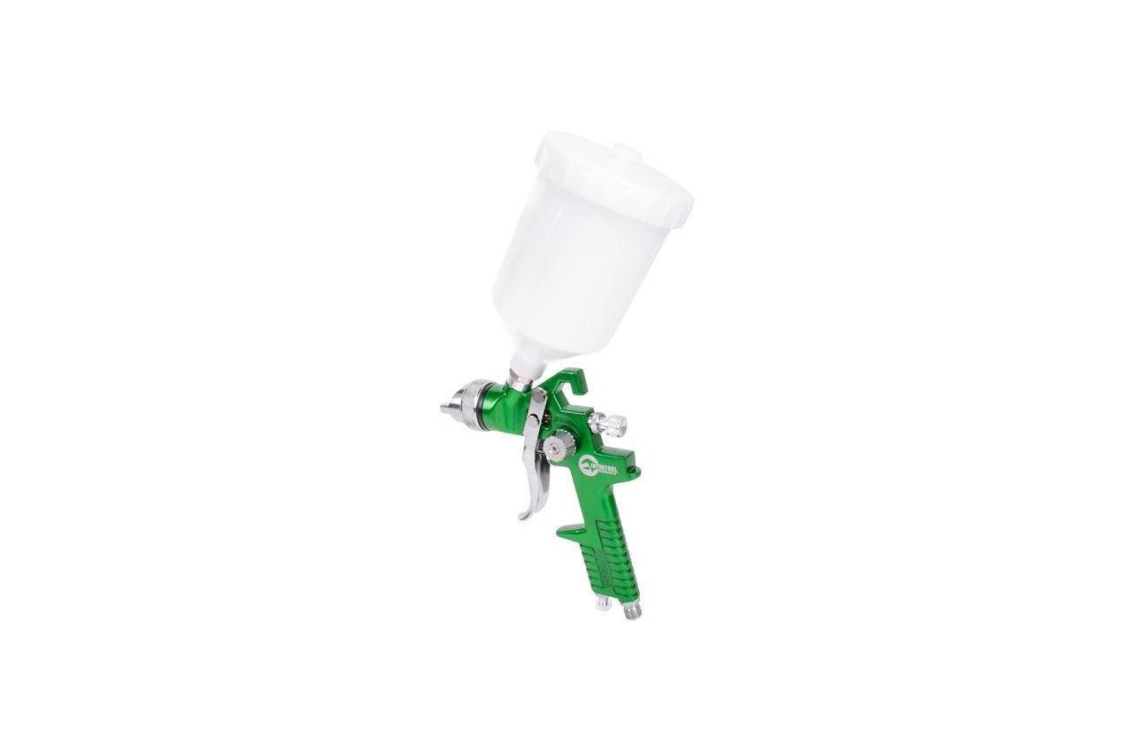 Краскопульт пневматический HVLP Intertool - 125 мл x 2,0 мм верхний бак