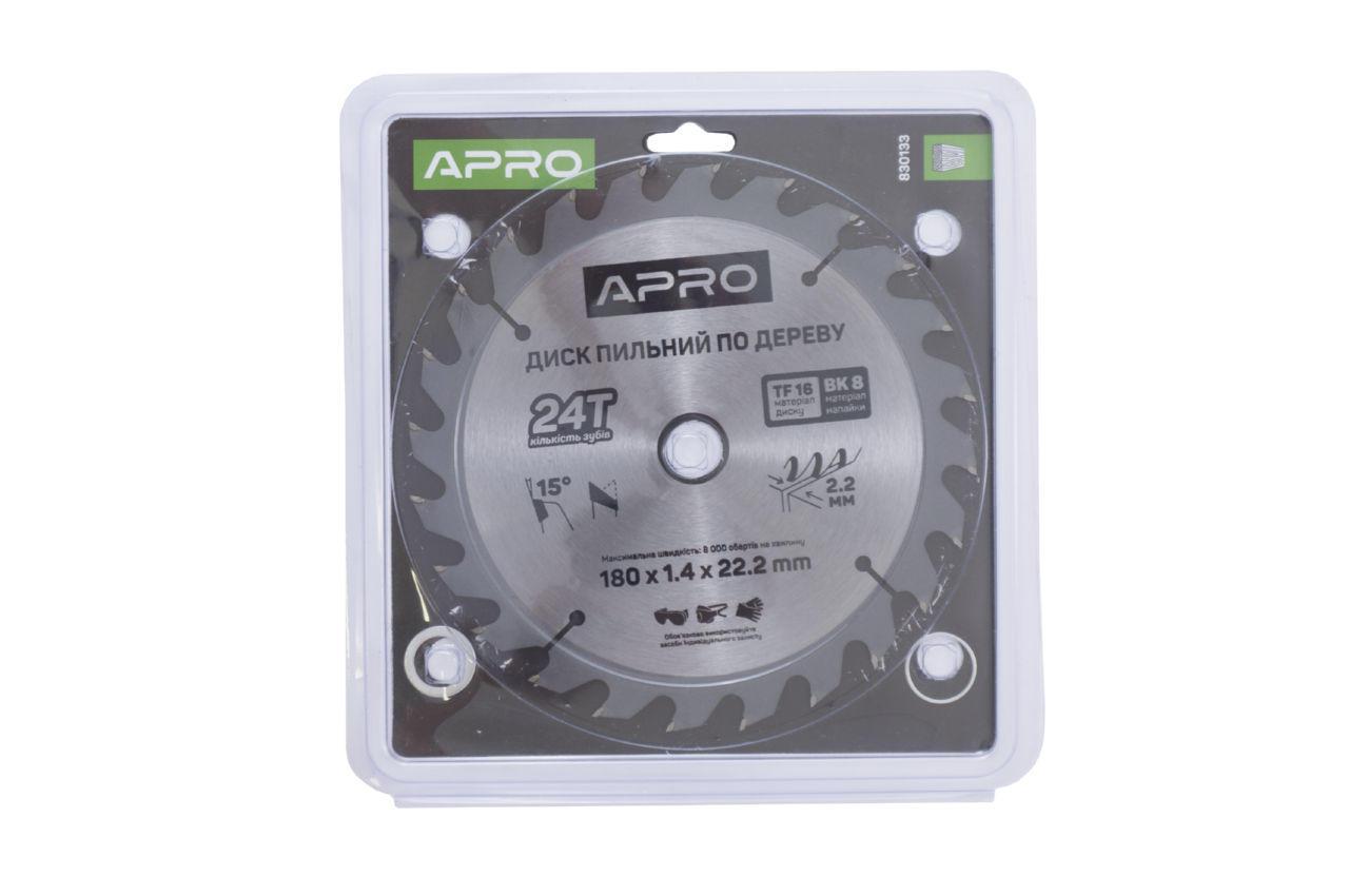 Диск пильный Apro - 180 x 22,2 мм x 24T