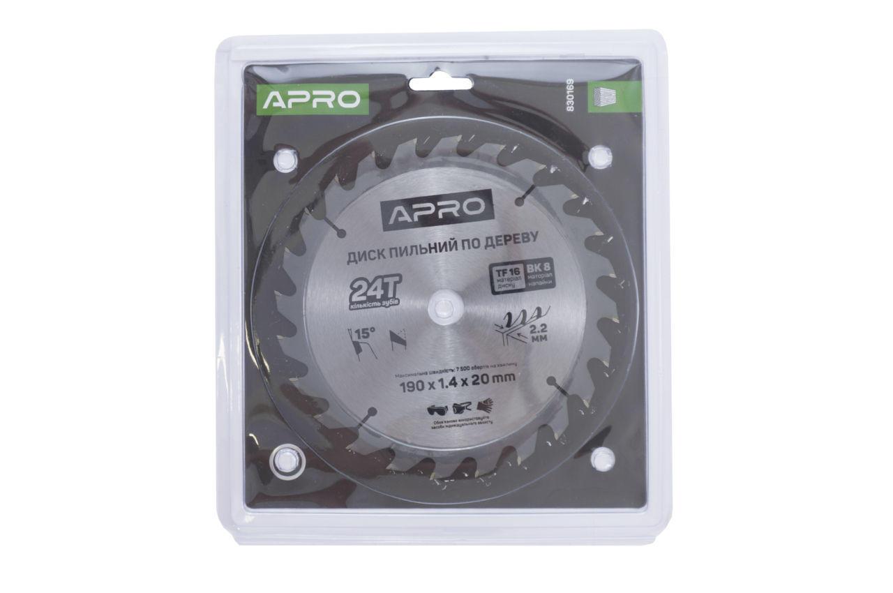 Диск пильный Apro - 190 x 22 мм x 24T