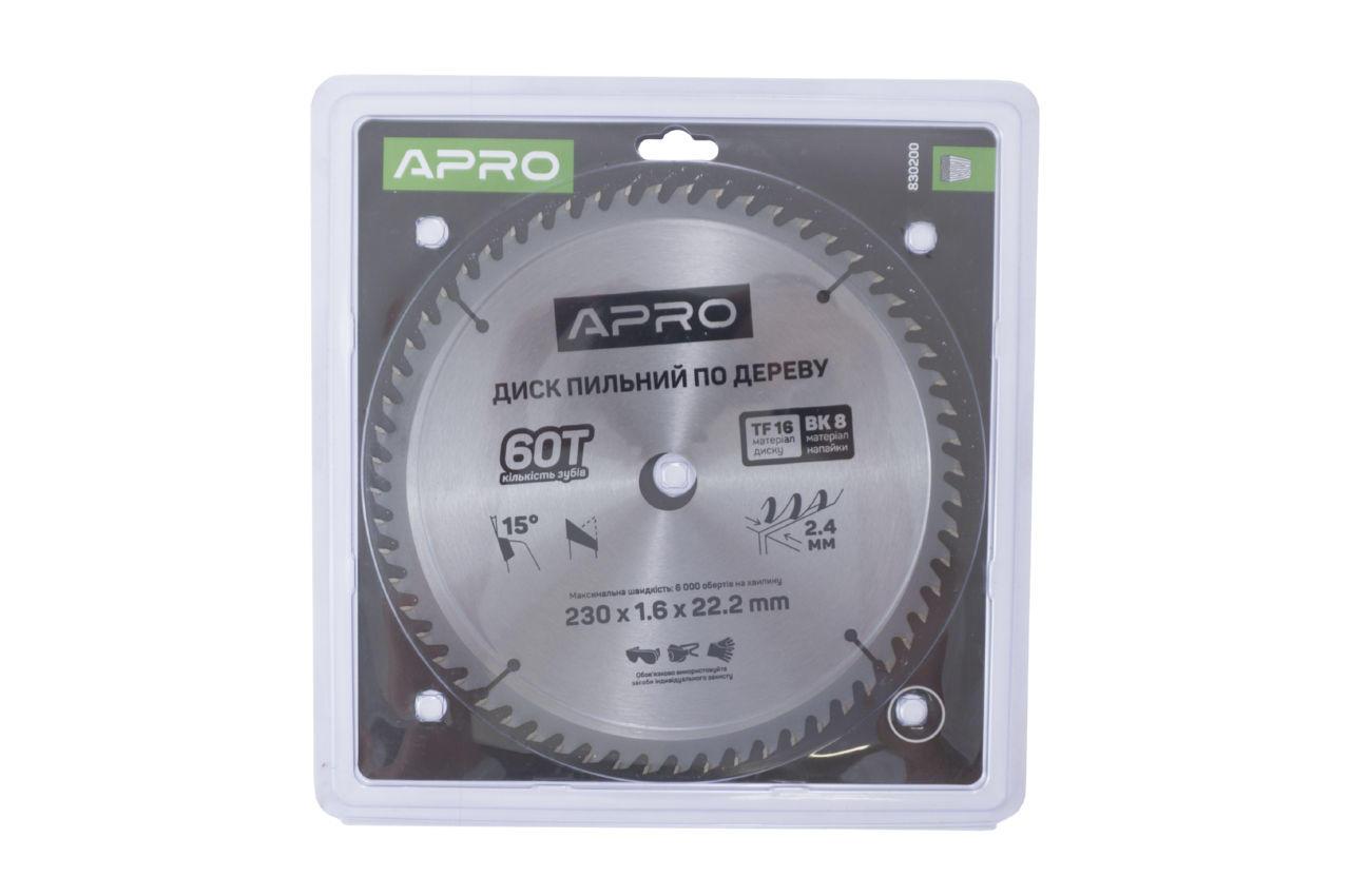 Диск пильный Apro - 230 x 22,2 мм x 60T