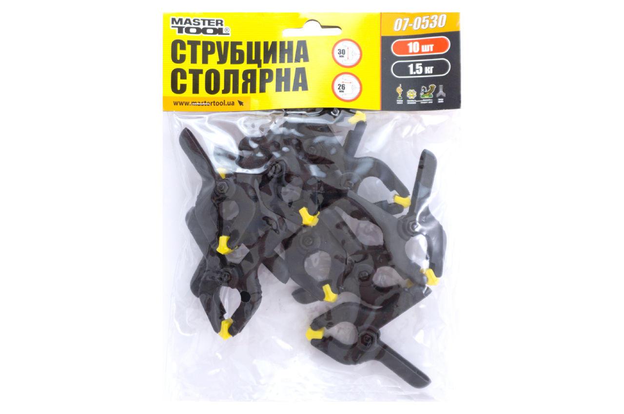 Струбцина пружинная Mastertool - 30 мм (10 шт.)