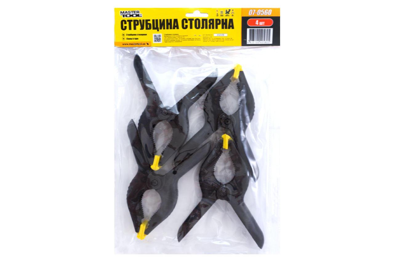 Струбцина пружинная Mastertool - 60 мм (4 шт.)