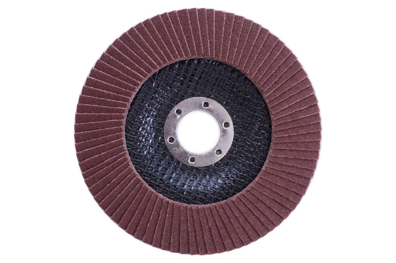 Круг лепестковый торцевой Apro - 125мм x Р120 изогнутый