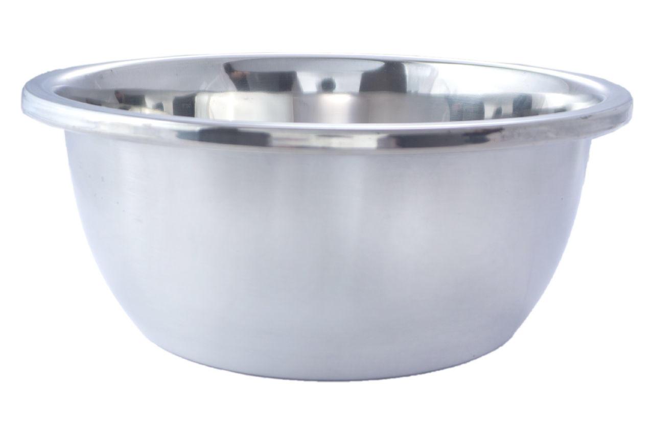 Миска нержавеющая АМА Kamille - 200 мм плоское дно