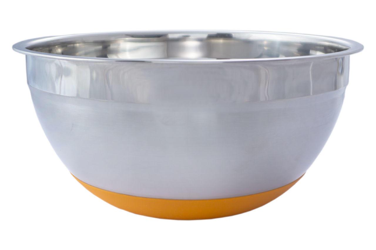 Миска нержавеющая АМА Kamille - 180 мм силиконовое дно