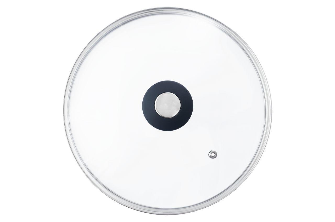 Крышка стеклянная АМА Kamille - 160 мм черная