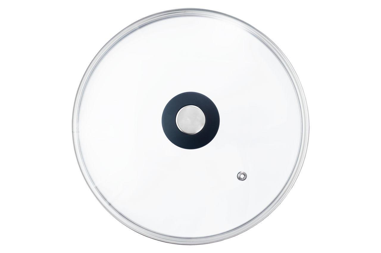 Крышка стеклянная АМА Kamille - 180 мм черная