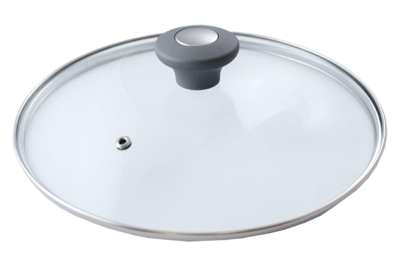 Крышка стеклянная АМА Kamille - 160 мм серая