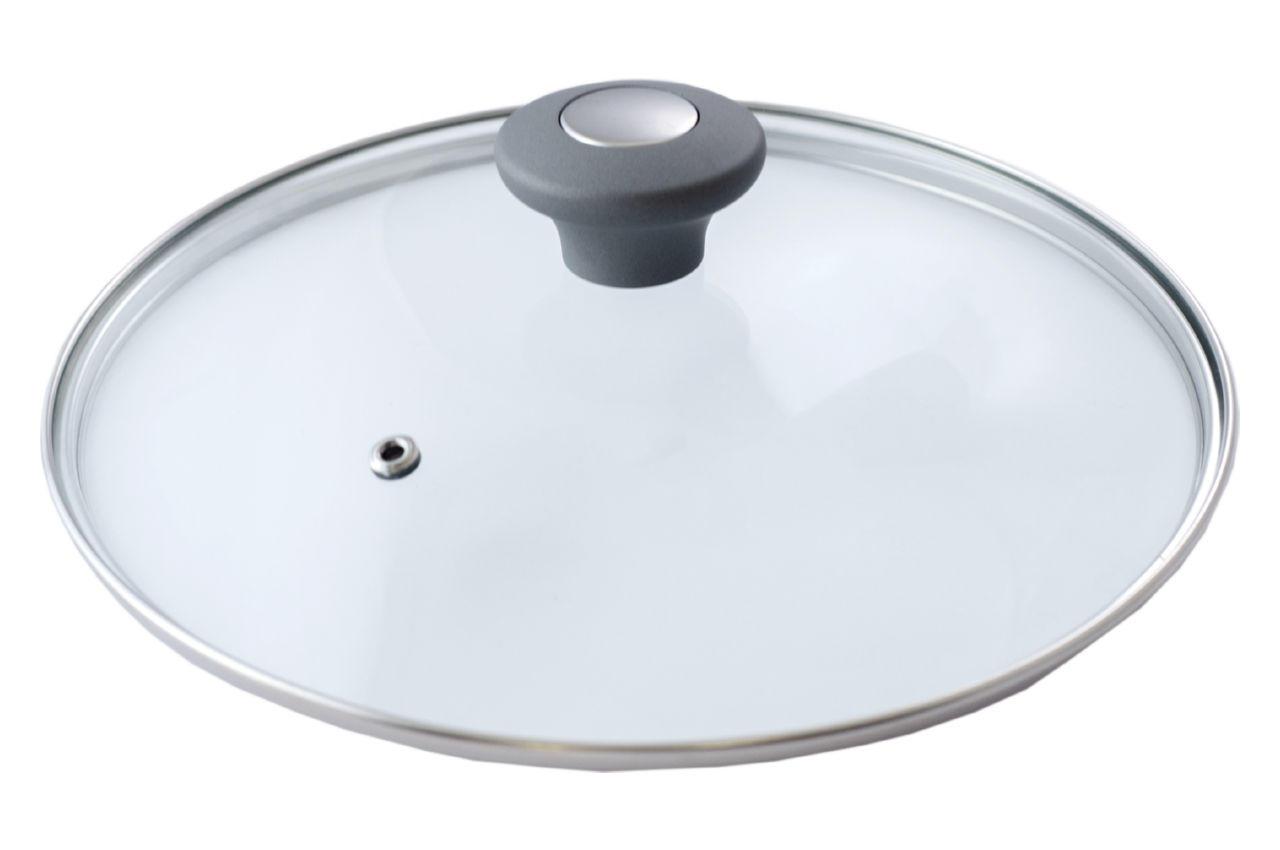 Крышка стеклянная АМА Kamille - 180 мм серая