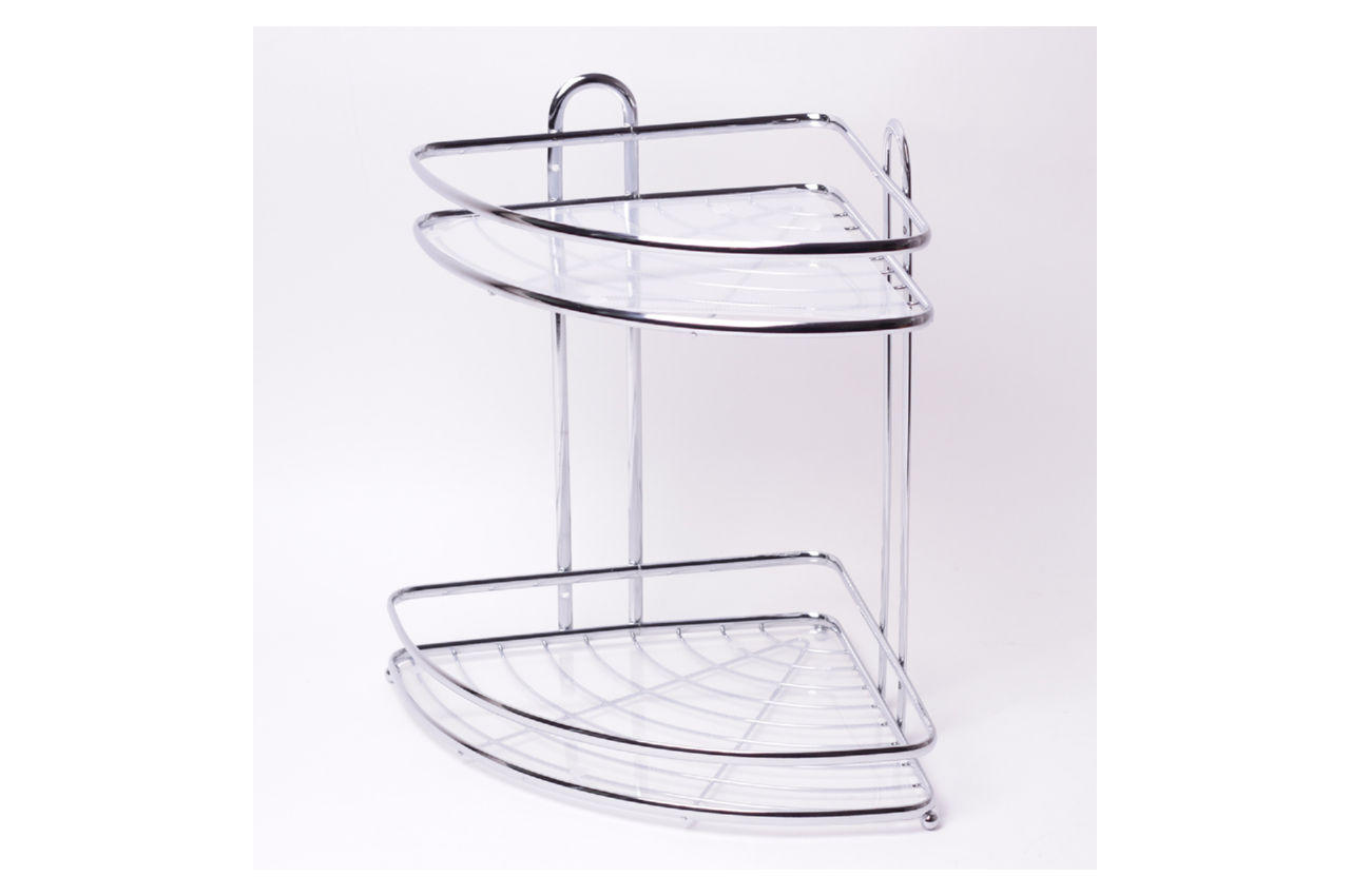 Полка для ванной Besser - 250 x 250 x 335 мм угловая двойная