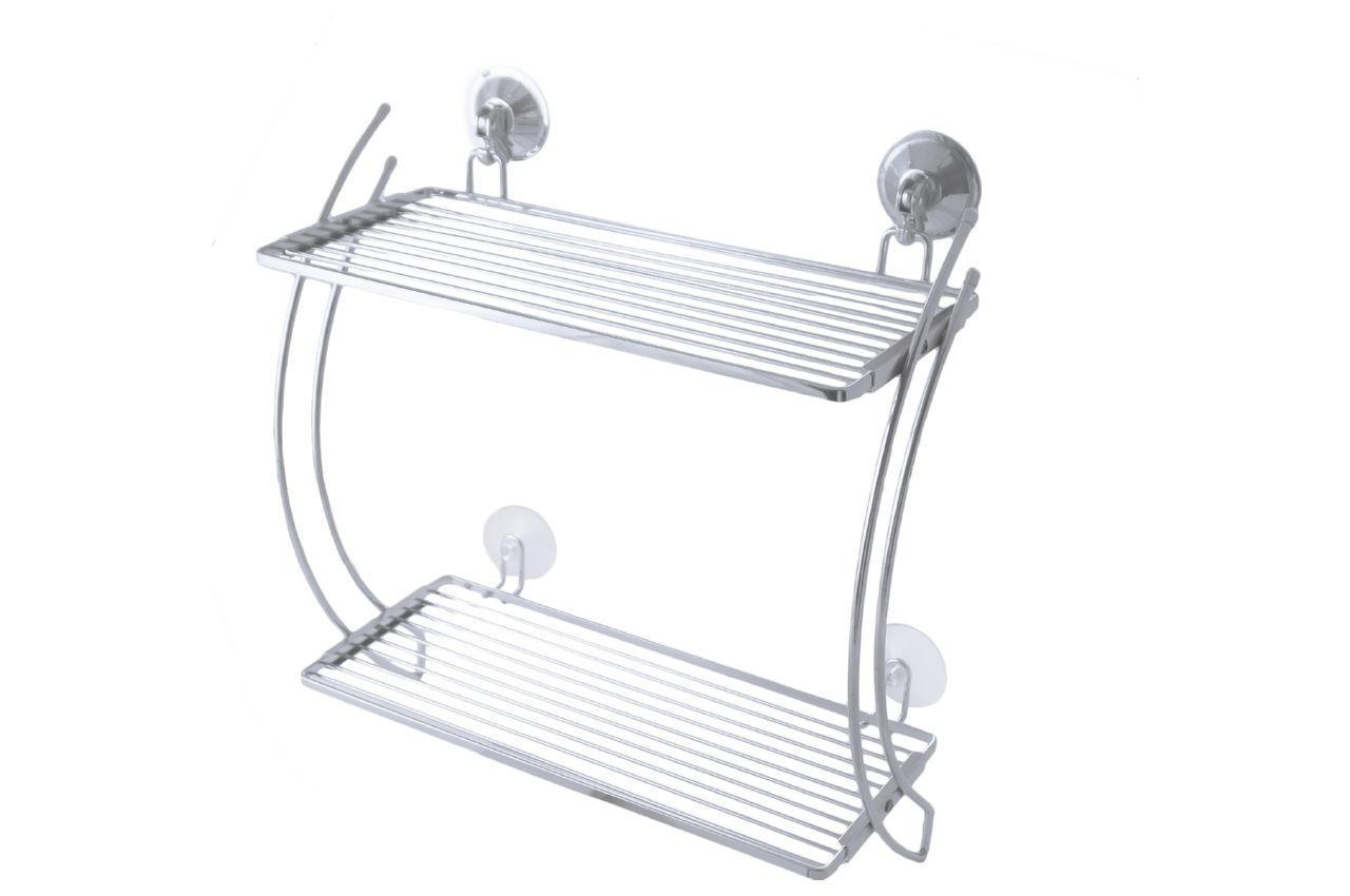 Полка для ванной Besser - 365 x 160 x 380 мм прямая двойная