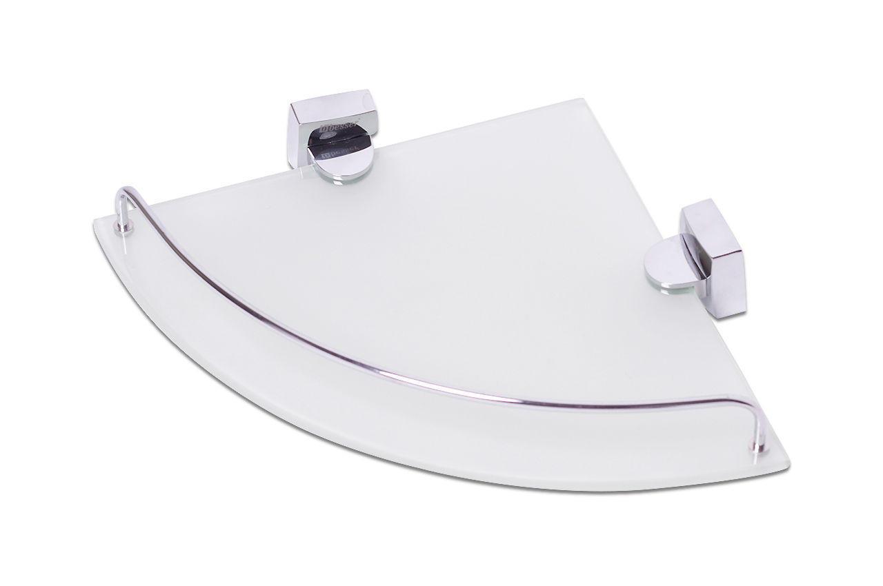 Полка для ванной Besser - 260 x 260 x 40 мм угловая стеклянная