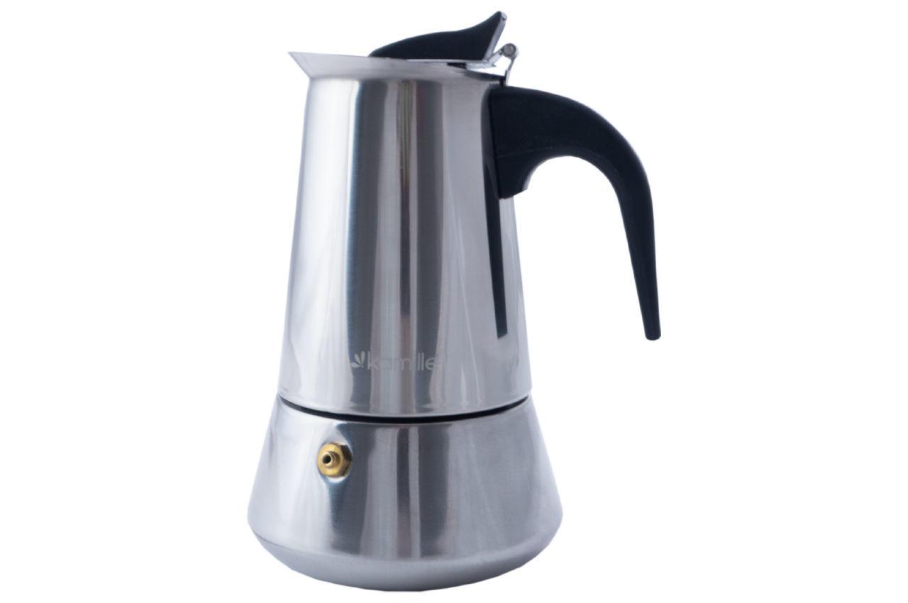 Кофеварка гейзерная нержавеющая Kamille - 200 мл