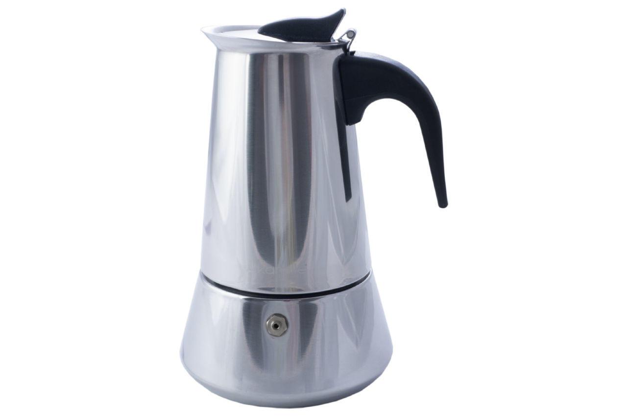 Кофеварка гейзерная нержавеющая Kamille - 300 мл
