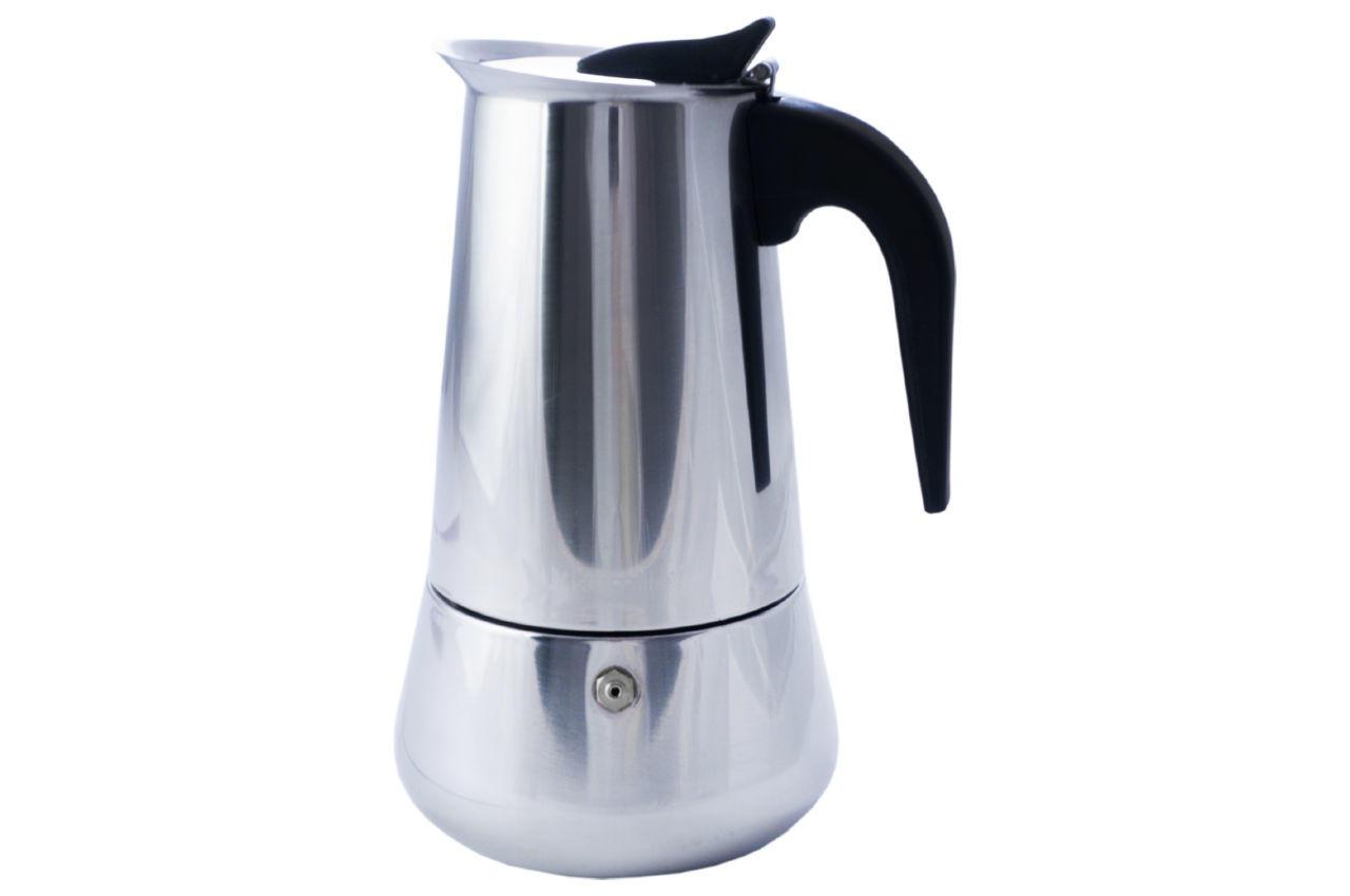 Кофеварка гейзерная нержавеющая Kamille - 450 мл