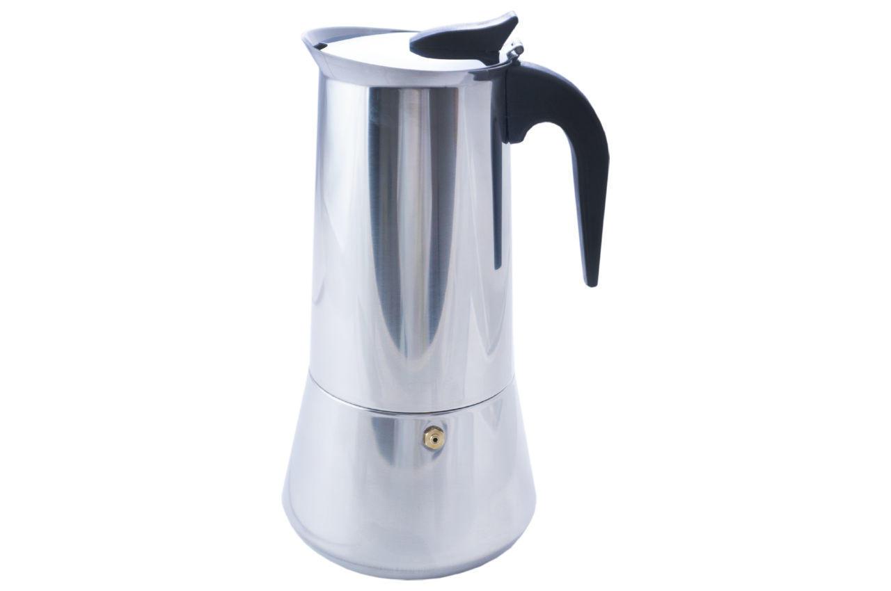 Кофеварка гейзерная нержавеющая Kamille - 600 мл