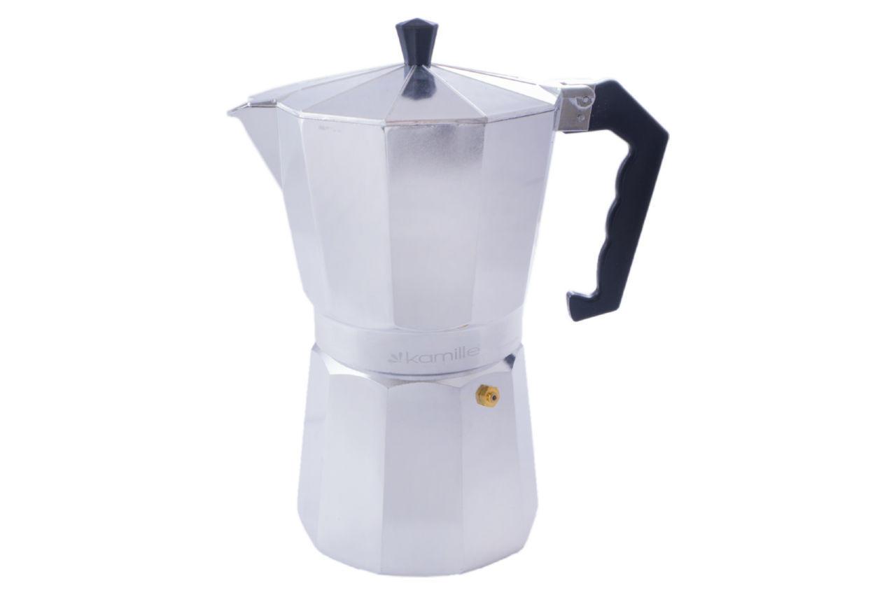 Кофеварка гейзерная алюминиевая Kamille - 600 мл