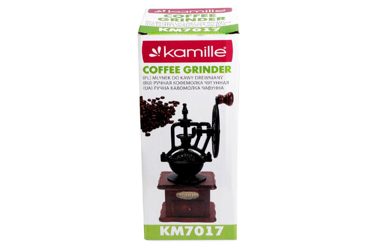 Кофемолка ручная Kamille - 265 мм чугунная