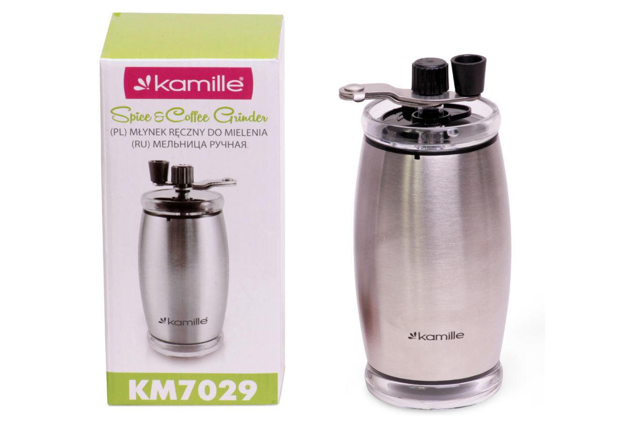 Кофемолка ручная Kamille - 160 мм нержавеющая