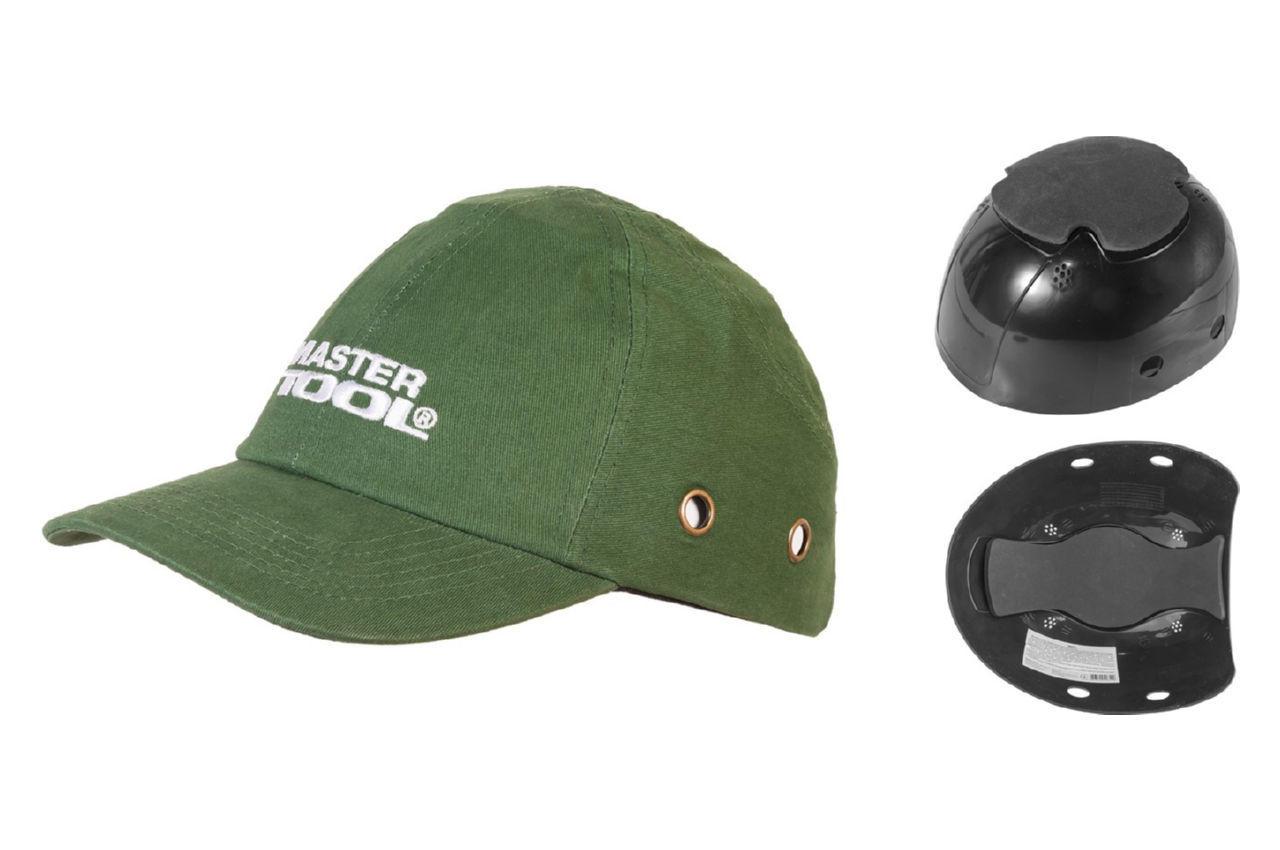 Каскетка защитная Mastertool - зеленая