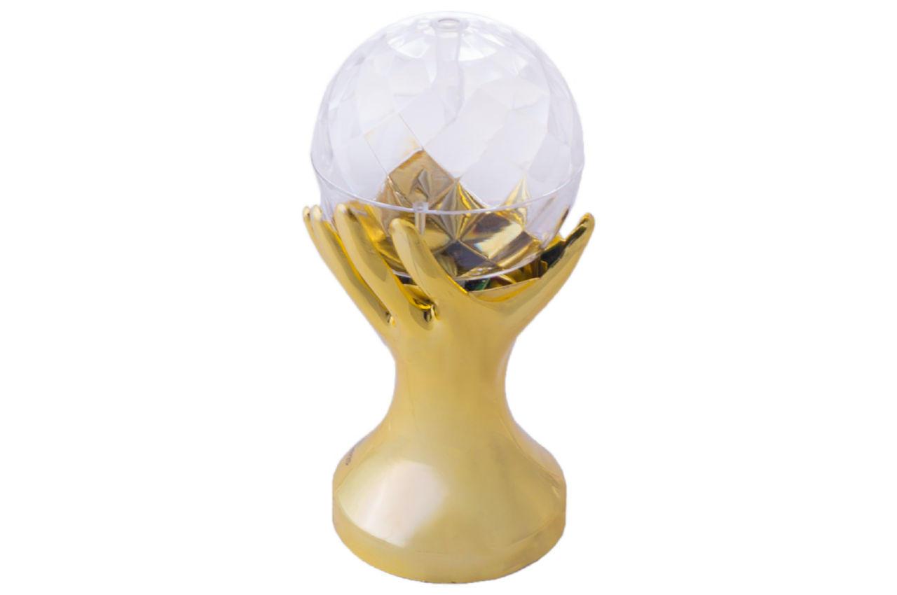 Диско лампа Crownberg - рука золотая