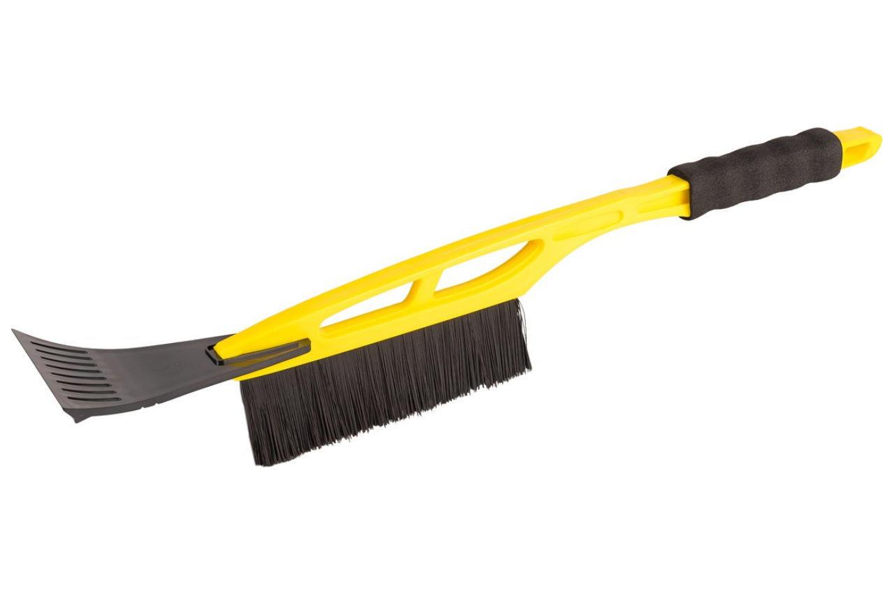 Щетка со скребком Mastertool - 520 мм желтая