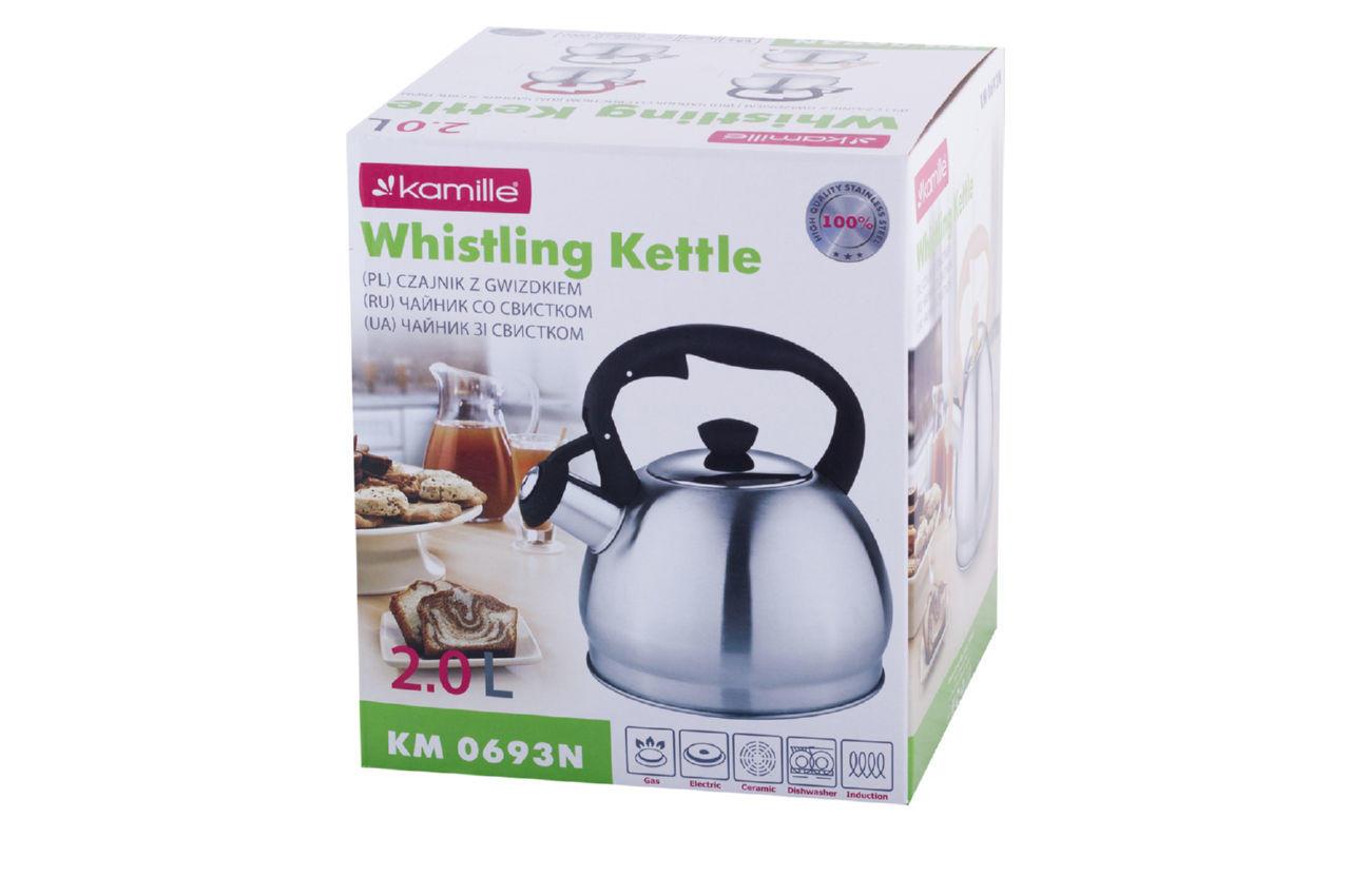 Чайник нержавеющий Kamille - 2 л