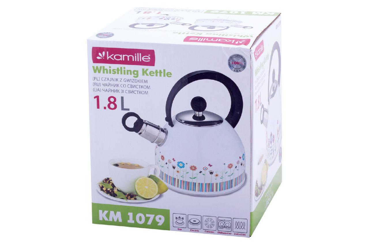 Чайник нержавеющий Kamille - 1,8 л