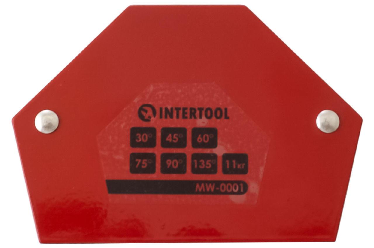 Держатель магнитный для сварки Intertool - 11кг трапеция