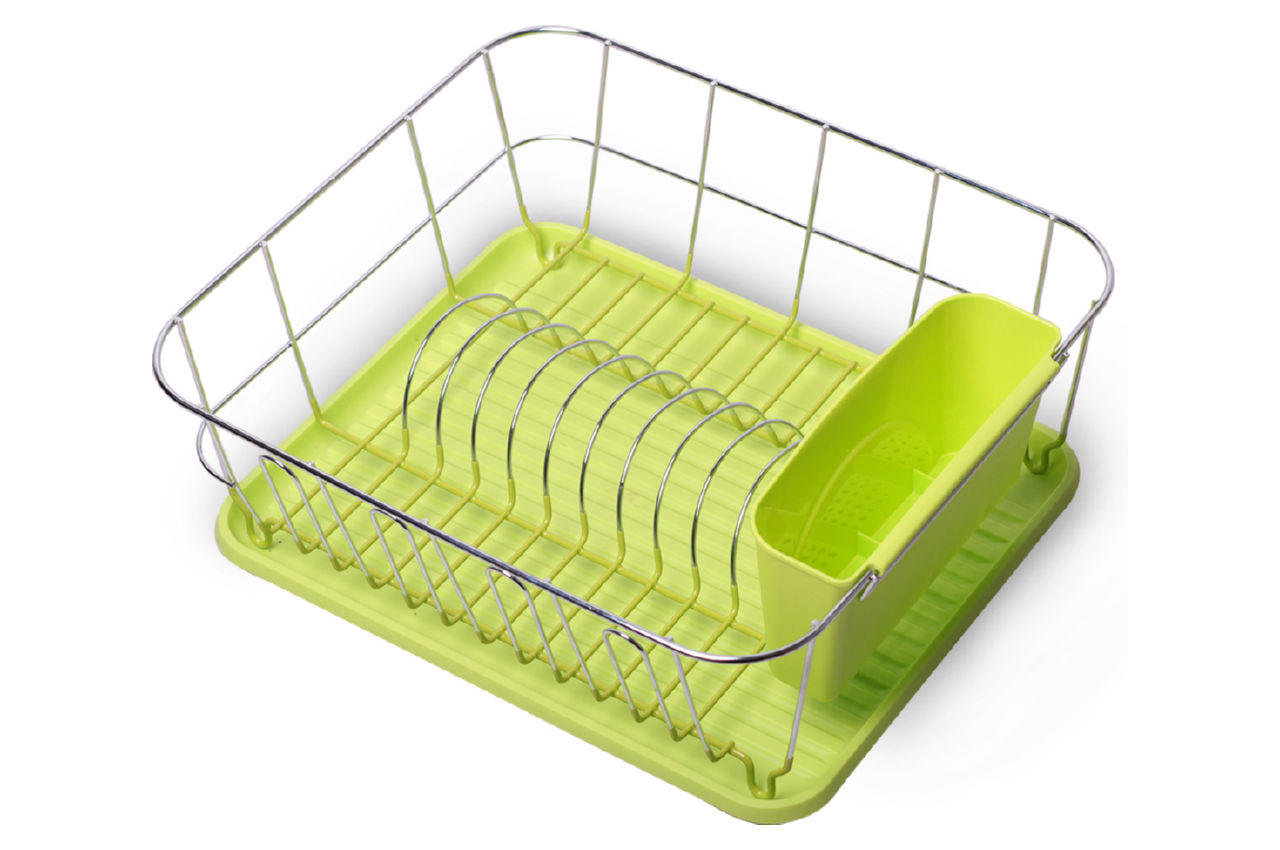Сушилка для посуды Kamille - 430 x 330 x 135 мм зеленая