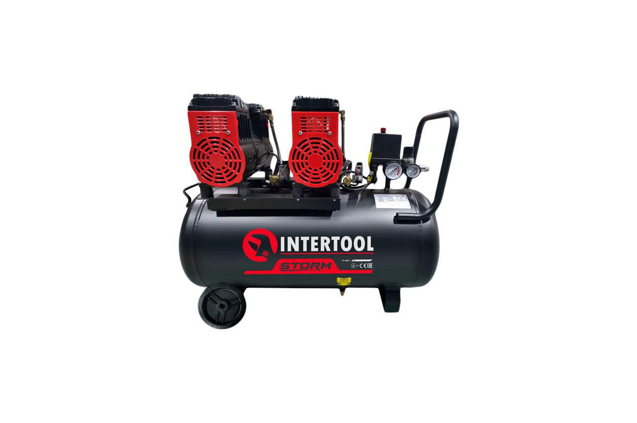 Компрессор безмасляный Intertool - 50 л x 2 x 1100 Вт Storm