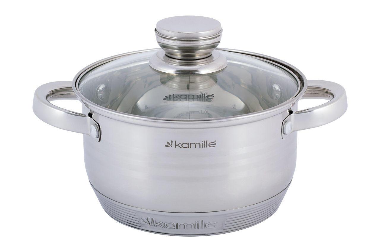 Набор посуды нержавеющий Kamille - 1,5 x 2л (2шт)