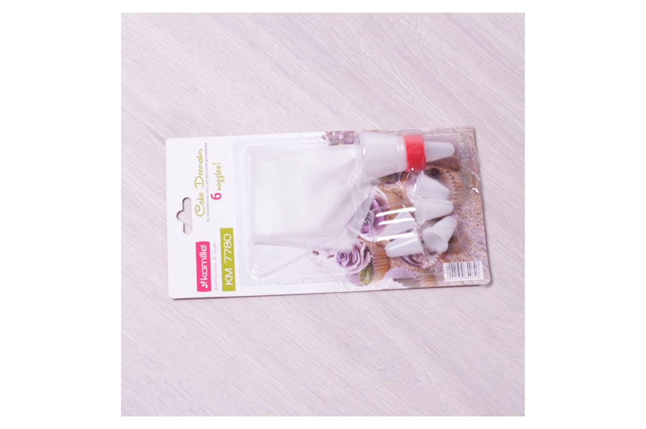 Мешок кондитерский Kamille - 6 насадок пластиковых