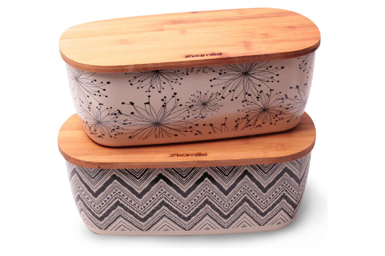 Хлебница Kamille - 360 × 202 × 135 мм бамбуковая