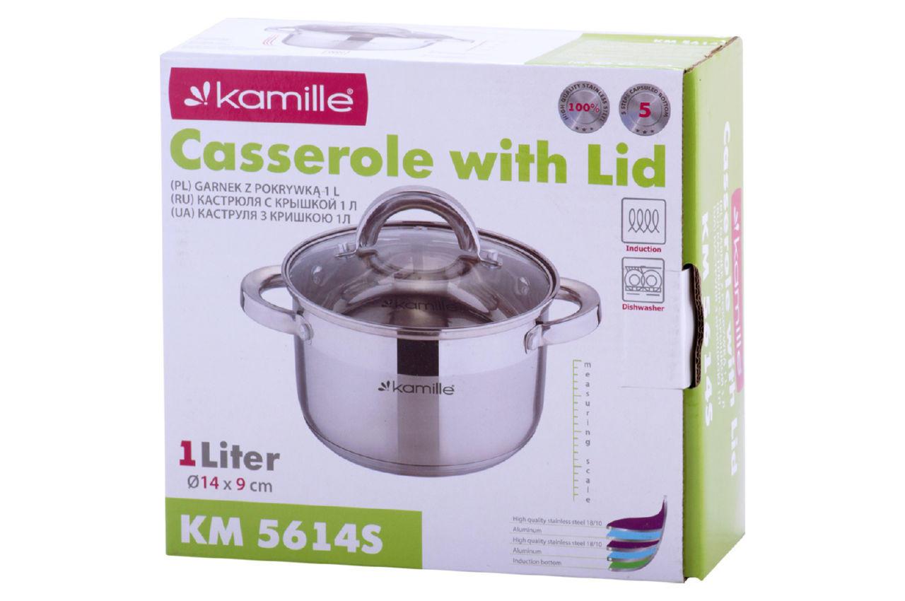 Кастрюля нержавеющая Kamille - 140 мм x 1 л