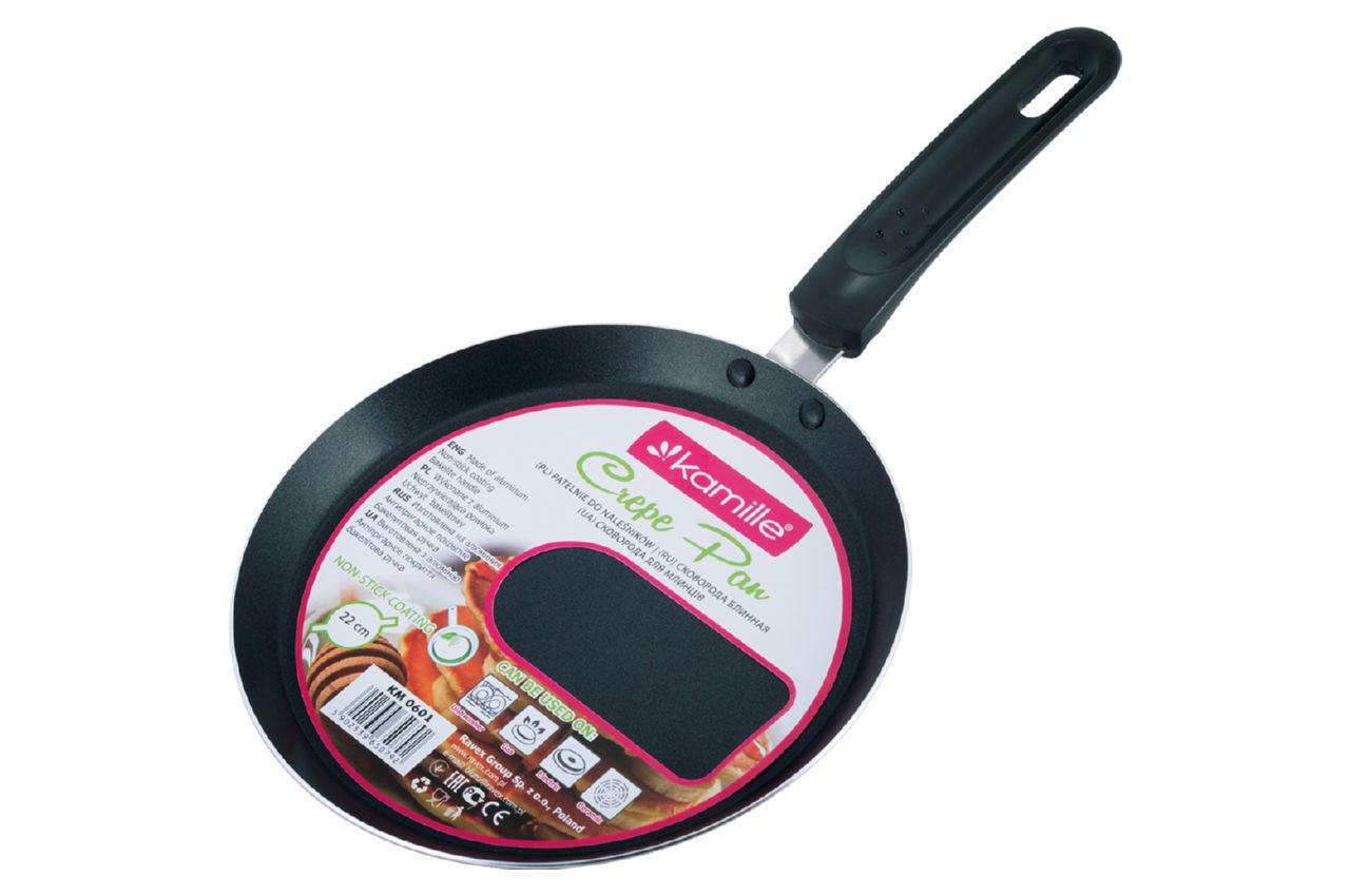 Сковорода блинная антипригарная Kamille - 220 мм