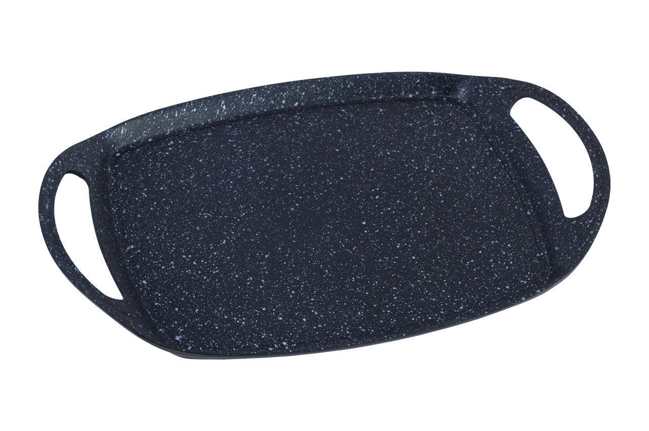 Плита-гриль антипригарная Kamille - 360 x 235 мм Black Marble