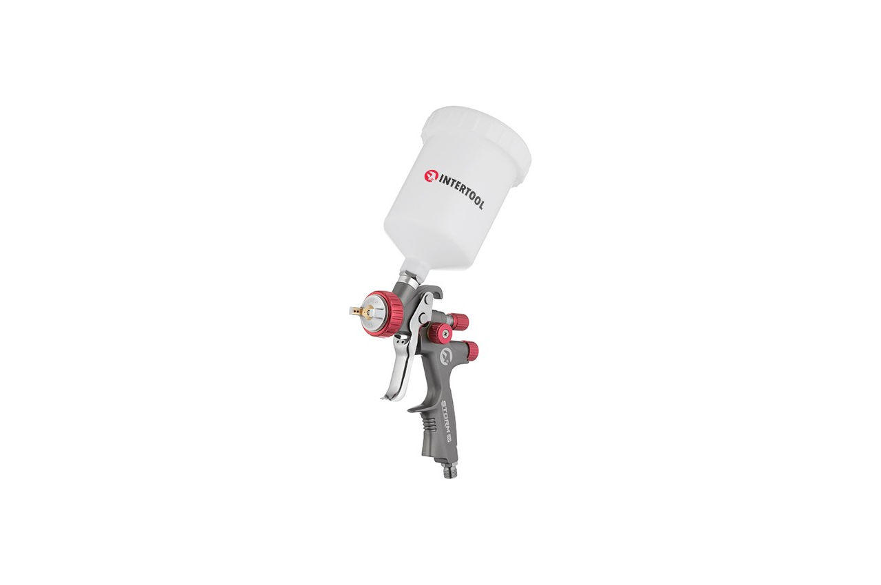 Краскопульт пневматический LVLP Intertool - 600 мл x 1,3 мм ВБ Storm